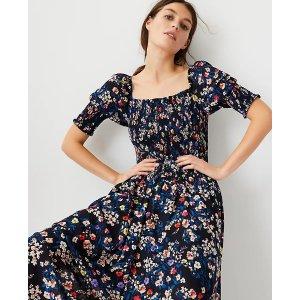 Ann TaylorFloral Smocked Maxi Dress | Ann Taylor