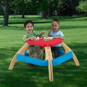 $14.97儿童室内外餐桌,可容纳4个孩子
