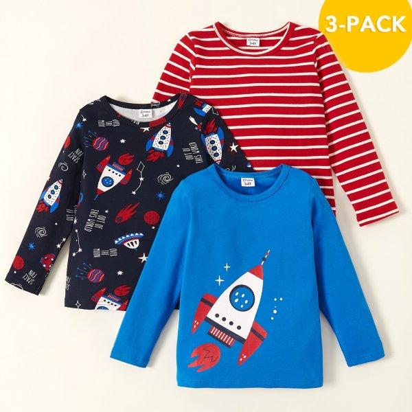 儿童长袖T恤 3件套