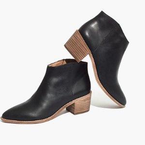 $69.65 (原价$198) 目前码全Madewell 官网精选黑色真皮踝靴热卖