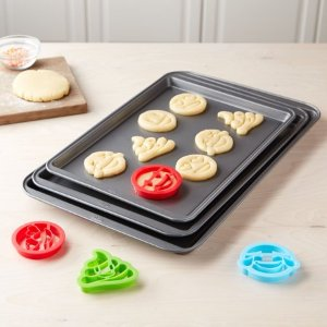 Tasty 3pc Cookie Sheet Set with 4 Cookie Cutters @ Walmart