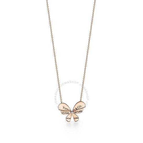 18k玫瑰金纯银项链
