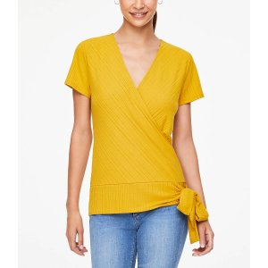 LOFT OutletBuy 1 get 1 freeRibbed Wrap Front Top