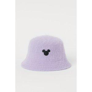 H&M香芋紫渔夫帽