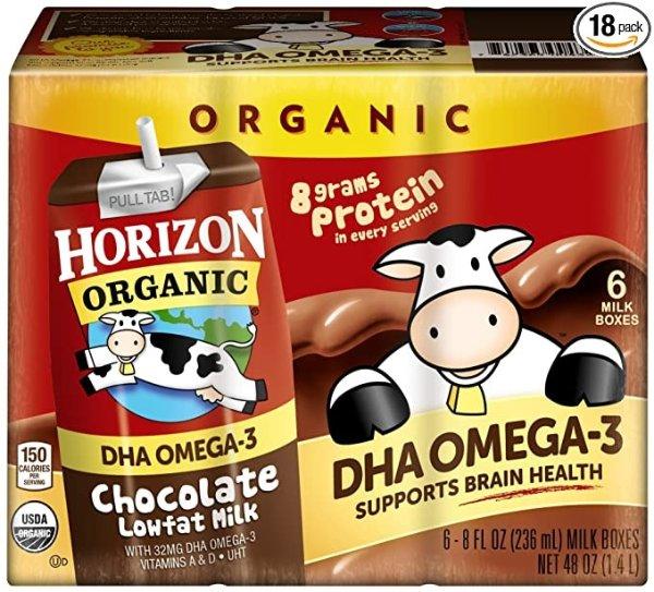 DHA Omega-3 巧克力低脂有机奶 8oz 12盒