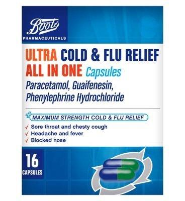 多合一感冒流感胶囊16 Capsules