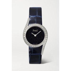 PiagetLimelight Gala Limited Edition 32mm 18-karat white gold, alligator and diamond watch