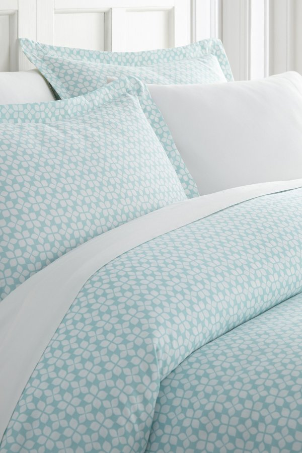 Enhance And Improve Your Bedroom 3-Piece Duvet Cover Set - Aqua - Queen