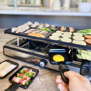 $79.99(原价$139.99)Linen Chest  双层家用多功能电烤盘 早餐煎饼 宅家烤肉