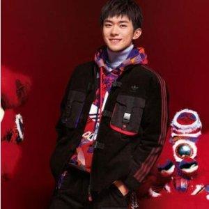 Adidas易烊千玺封面同款LNY 三条杠夹克