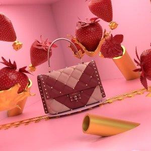 8折收 封面拼色款Valentino 经典款鞋包超值折扣 完美情人节浪漫礼物