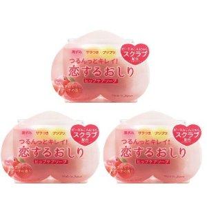 直邮美国到手价$21.5Pelican 美白清洁 去黑色素 美臀皂 水蜜桃香 80g*3块 特价