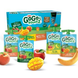 仅$8.69  90gx16袋GoGo Squeez 100%纯鲜果泥  混合口味装  宝宝健康辅食
