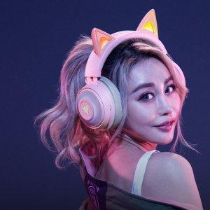新发光猫耳 两色可选 仅€169.99Razer 新品北海巨妖猫耳耳机上线 电竞萌妹必入装备