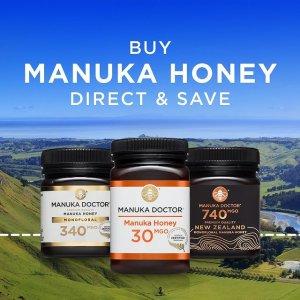 MGO 70 蜂蜜仅£10Manuka Doctor 夏季大促上新 回国伴手礼&日用滋补品囤货