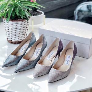 全场8折 €360收千颂伊同款Jimmy Choo 女生梦想中的水晶鞋 快收经典亮片 渐变款啦