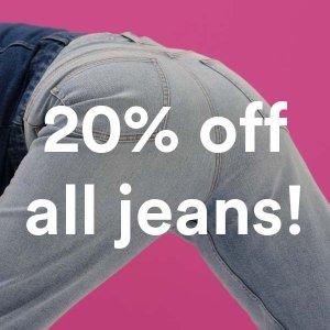 全场8折 €24收牛仔裤限今天:Monki 牛仔裤特区周末好折 百搭潮款 酷潮优雅都是你