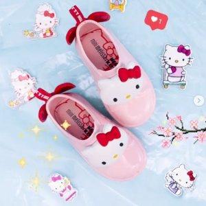 6折+额外8.5折 收粉嫩Hello Kitty折扣升级:Mini Melissa 女童鞋上新款 童趣十足超可爱