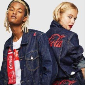 $88 Get Cola T-ShirtDIESEL × Coca-Cola Men's Women's Clothing New Arrivals
