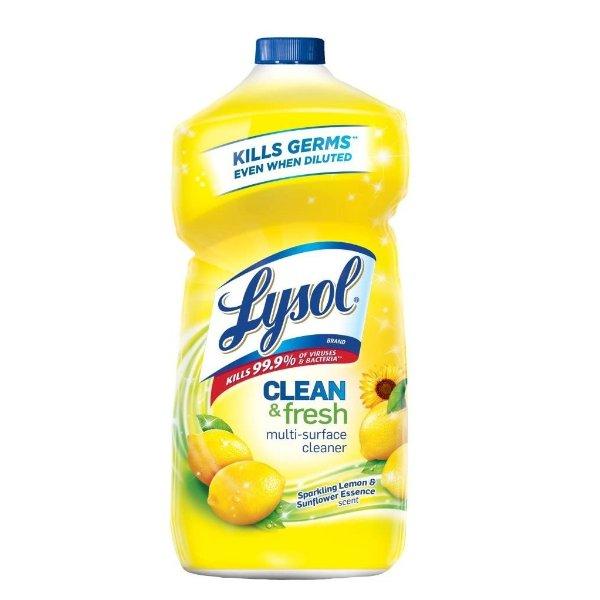 多效杀菌表面清洁剂补充装,柠檬花香40oz