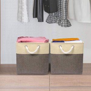 $26.72(原价$36.99)收4件限今天:Univivi 可折叠储物箱4件装 带坚固棉质提手