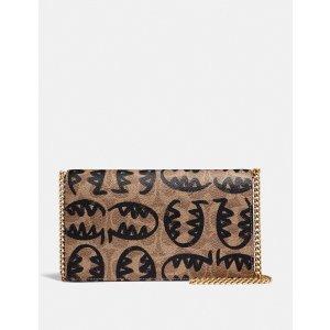 CoachCallie 折叠标志印花手拿包