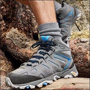 折扣区额外8折包邮Merrell 户外品牌男士登山靴、男装折上折热卖