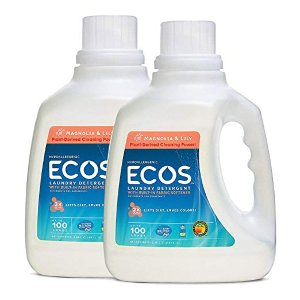 $9Earth Friendly Products ECOS 2x Liquid Laundry Detergent, Magnolia & Lily, 200 Loads, 100 FL OZ (Pack of 2)