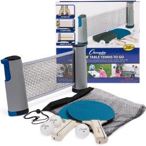 仅$20.08Champion 乒乓球拍+球网套装  宅家运动好选择