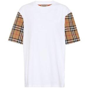 Burberry经典格纹T恤