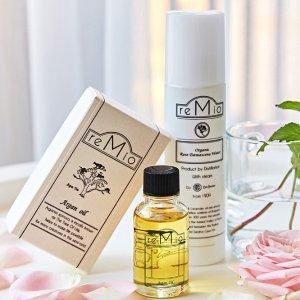 大马士革玫瑰水含税直邮$49.6Remio 日本小众有机护肤 收有机花水、养肤摩洛哥坚果油