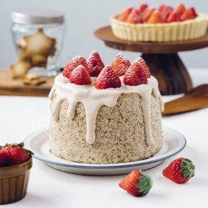 当草莓遇到奶茶草莓伯爵奶茶戚风蛋糕,奶茶控的最爱