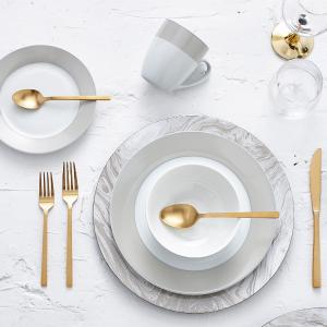 16件套仅需$21精选Safdie & Co. 纯美陶瓷餐具套装热卖