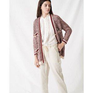 MajeMapada Knit Button-Front Cardigan