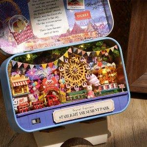 €14.99起收封面铁盒模型DIY 迷你小屋热卖 手工打造你的梦幻空间 宅家消磨时光利器