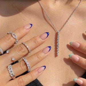 任意3件£65Objekts 闪耀饰品 戒指、耳环、项链 叠戴 ins 仙女风