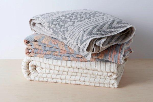 有机纯棉盖毯Twin