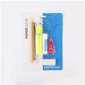 仅$1.25(原价$5)Paperclick 文具6件套特价 含铅笔、荧光笔、修正带等