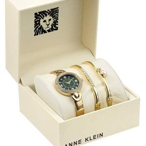 Lowest PriceAnne Klein Women's Swarovski Crystal Accented Watch and Bangle Set