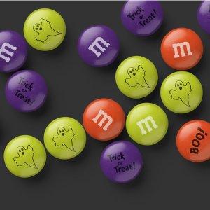 满额免运费(立省$9.99)M&M官网 可个性化定制巧克力豆热卖,万圣节主题上新