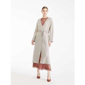 Wool cardigan, turtledove -