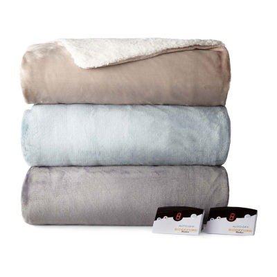 摇粒绒保暖可加热毯子