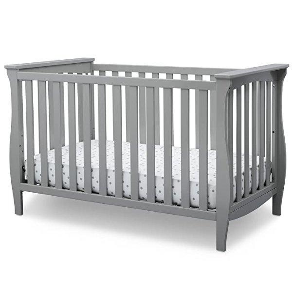Delta Children Lancaster 3合1多功能婴儿床 高级灰