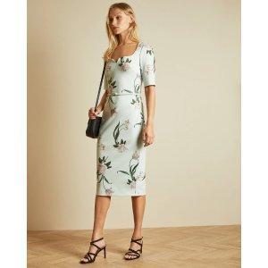 Ted BakerMAGIEYY Elderflower fitted dress