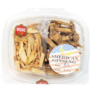 Family Pack: WOHO #171 American Ginseng Assorted Root 3oz +FREE American Ginseng Slice Small 1oz