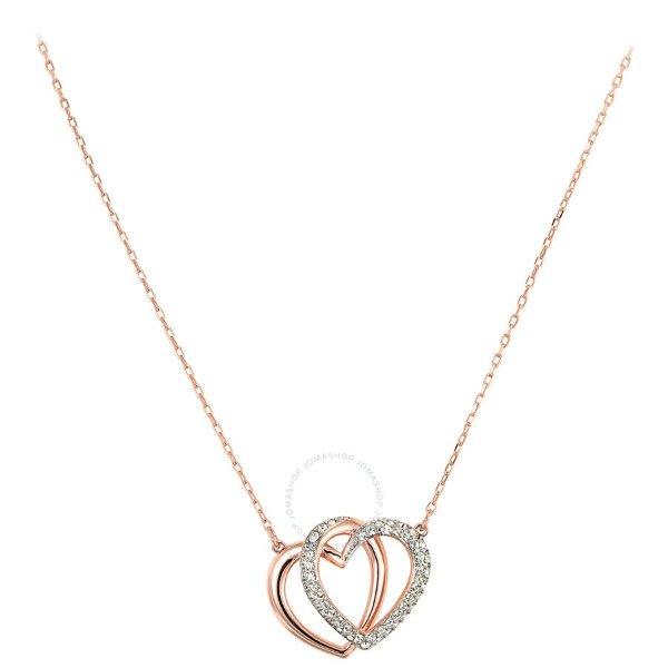 玫瑰金水晶项链