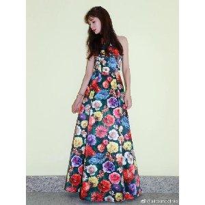 Alice + Olivia林志玲同款印花连衣裙
