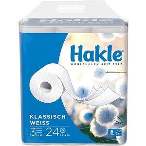 仅€0.33/卷厕所卷纸 24卷