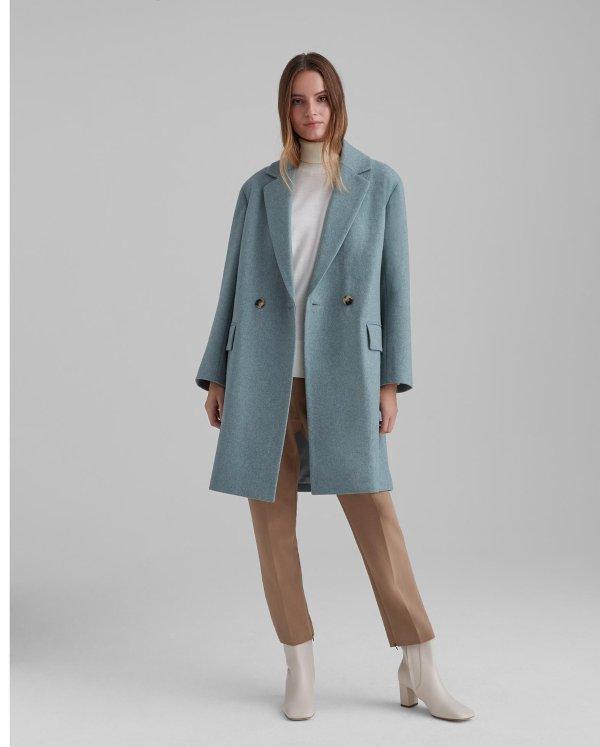 双面羊毛大衣