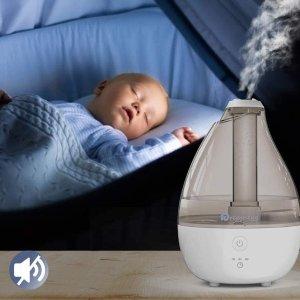 $29.99(原价$49.99)Dreamegg 婴儿超声波加湿器 不含BPA 静音自动定时